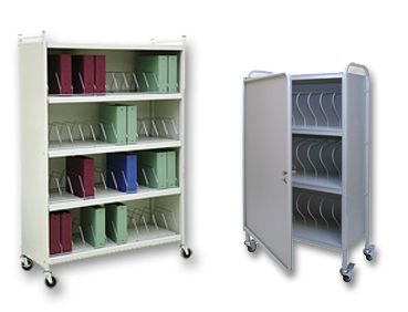 mobile_chart_ringbinder_cart_storage_rack
