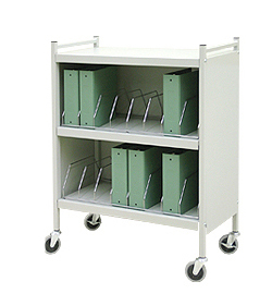 Rhino-Tuff, Mobile Chart Rack, 16-Space, Binder Storage Cart