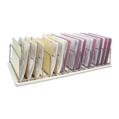 Sixteen (16) Space Table Top Chart Rack