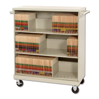 Deluxe Medical Record File Cart