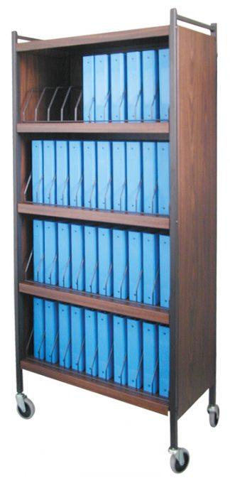 Rhino-Tuff, Mobile Chart Rack, 40-Space, Binder Storage Cart