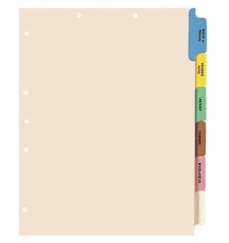 6-Tab Chart File Dividers – matches MAP Item # 174-33159