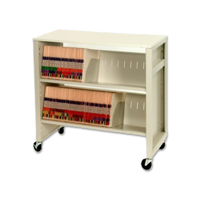 File Folder Cart with Laminated Workstation Top