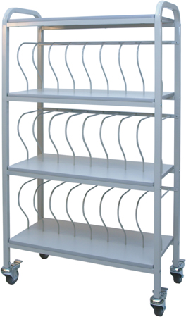 Mobile Chart Racks - Workhorse Binder Storage Carts