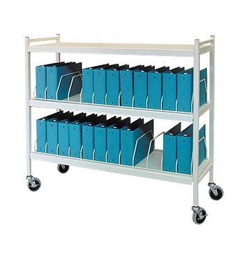 Rhino-Tuff Mobile Chart Rack, 24-Space, Binder Storage Cart