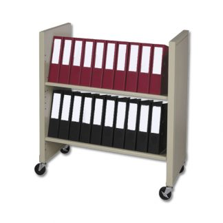 Large Chart Binder Rolling Cart –  Holds 4″-5″ Binders