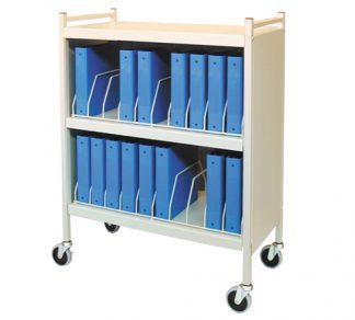 Rhino-Tuff, Mobile Chart Rack, 20-Space, Binder Storage Cart