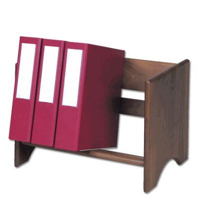Classic Wood Workspace Binder Rack