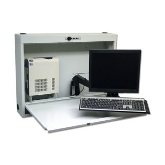 EMR Computer Wall Desk with Articulating Arm
