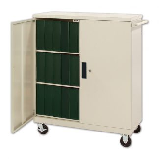 Deluxe HIPAA Privacy Cart, Holds 4″ & 5″ binders!