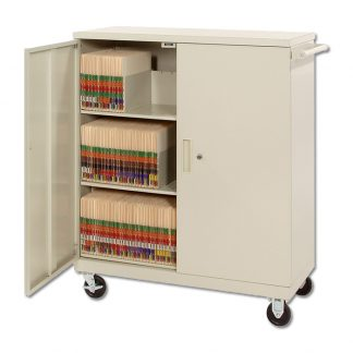 Deluxe Medical Record File Cart – HIPAA Compliant