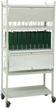 Privacy Mobile Chart Rack, 40-Space – Rhino Tuff Cart