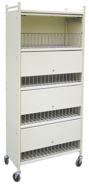 Privacy Mobile Chart Rack, 60-Space Cabinet Style – Rhino-Tuff Cart