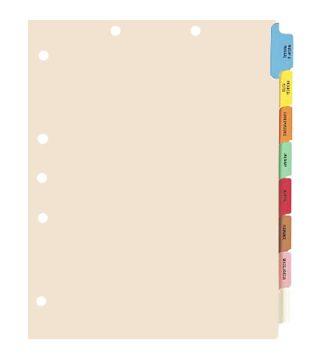 8-Tab Chart Tab Divider Set  # 174-30227, 174-30227B