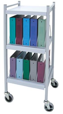 Rhino-Tuff, Mobile Chart Rack, 10-Space, Binder Storage Cart