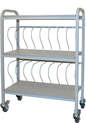 Mobile Chart Binder Rack, 16-Space Rack, 3″ Binder Storage