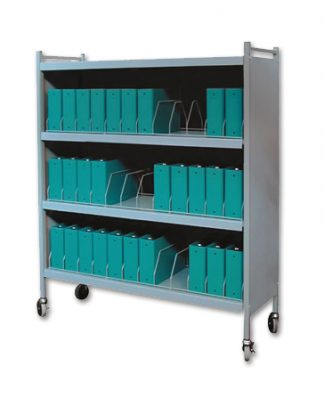 Rhino-Tuff, Mobile Chart Rack, 36-Space, Binder Storage Cart