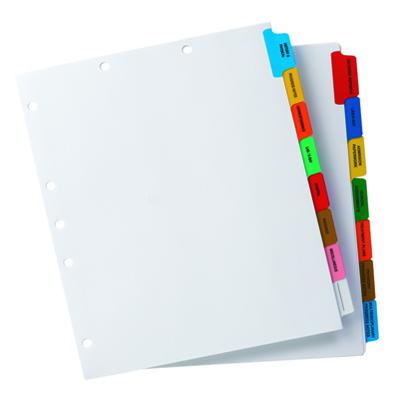 Chart Tab Divider Sets