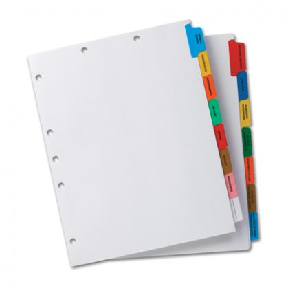 Chart Tab Dividers – Custom Made