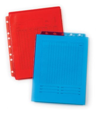 Tinted Sheet Protectors – Transparent Red & Blue