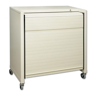 Tambour Door Medical File Cart – HIPAA Compliant