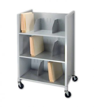 Medical Record File Cart – Three (3) Tier Transport