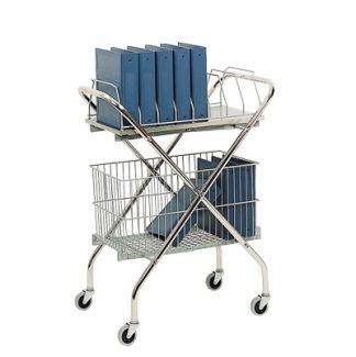 Utility Wire Basket Cart – Chart Rack