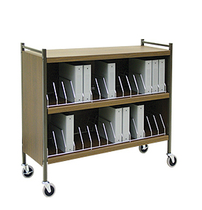 Rhino-Tuff, Mobile Chart Rack, 30-Space, Binder Storage Cart
